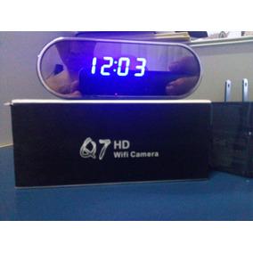 Câmera Espiã Ip Wi - Fi Com Visão Noturna Relógio De Mesa