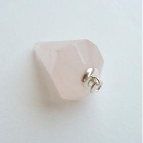 Pêndulo De Quartzo Rosa Natural E Prata Sólida 925 9544d18