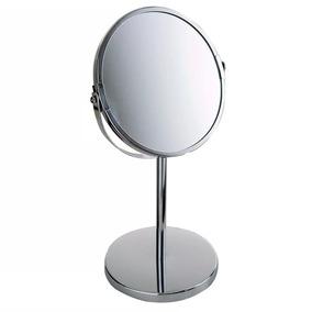 Espelho De Mesa Grande Aumenta Zoom Dupla Face
