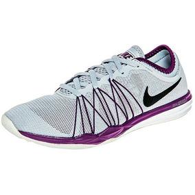 Tenis Nike Dual Fusion Tr 844674-008 Gris-morado Dama Oi