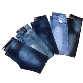 Kit 5 Bermuda Jeans Masculina Extra Grande 48 50 52 54 56
