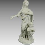 Antigua Figura Porcelana Parian Biscuit Alemana Volkstedt