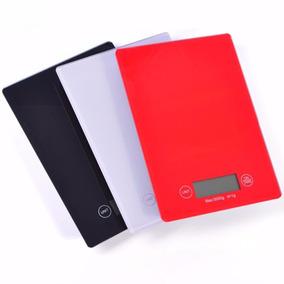 Balança Digital 5kg Em Vidro Temperado Para Cozinha Slim