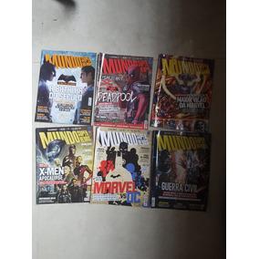 Revista Mundo Dos Super Heróis! Nºs 21, 76,77,78,79,80 E 86
