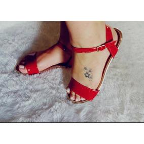 Sandalia Vermelha Verniz Do 33 Ao 40