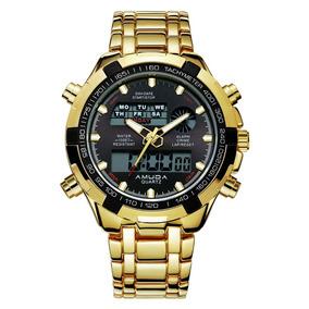 00a92597fc1 Relógio Dourado Brilhoso Feminino - Relógios De Pulso no Mercado ...