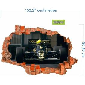 Adesivo Recortado Parede F 1 Senna Corrida