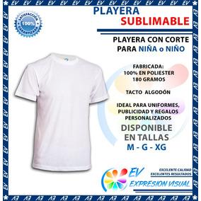 Playera Blanca Sublimacion Tacto Algodón Colormake Niña Niño 30ccade266560