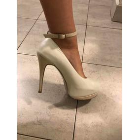 e2a5a68c Zapatos De Fiesta Color Nude - Stilletos de Mujer Blanco en Mercado ...