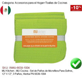 Mu Cocina Set Paños Microfibra Gofres 12 6638-1004