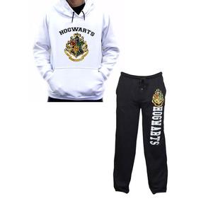Moletom Canguru + Calça Moletom Escola Hogwarts De Bruxaria 2e6b2e043a2d6
