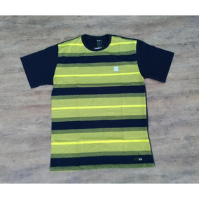 Camiseta Oakley Striped Box Listrada Especial Logo Acende 0bf5e39e9f6