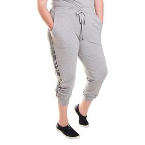 Roupa Feminina Calça Jogger Listra Lateral Plus Size
