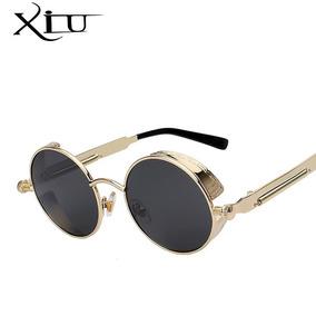 Óculos De Sol Redondo Haste Mola Vintage Gotico Retro Lennon 5efedcda09