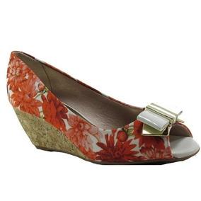 Sapato Beira Rio Floral Tropical Laranja - 4775116