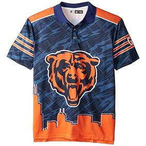 Klew Nfl Chicago Bears Poliéster Manga Corta Temática Polo 7fe8ab3701a95