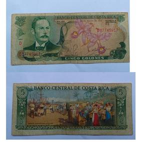 Cédula De Cinco Colones - Costa Rica - 1981