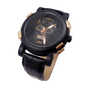 Reloj Caballero Diamonds Rose Gold Skull Promo