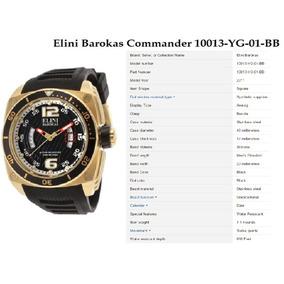 Relógio Elini Barokas Commander 10013-yg-01-bb Original