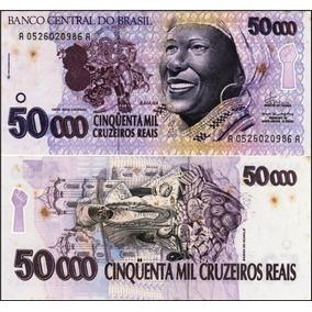 50.000 Cruzeiros Baiana Série Aa0526ª C-240 Pequenas Mancha