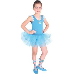 Disfraz Bailarina Azul Para Niñas Original Sulamericana