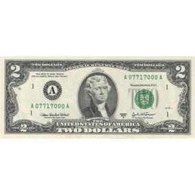 Nota Rara De 2 Dollares Em Série 25 Unidades-novo Em Folha