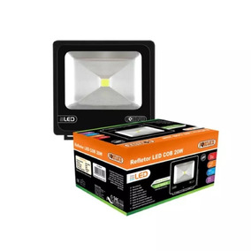 Refletor Led Cob 50w Preto 6500k Led38.22 Foxlux Bivolt Luz