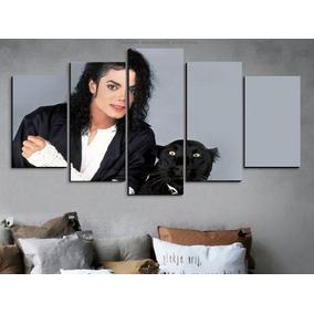 Painel Quadro 5 Partes Michael Jackson Puma 110x55cm
