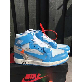 Nike X Off White Air Jordan 1s Powder Blue
