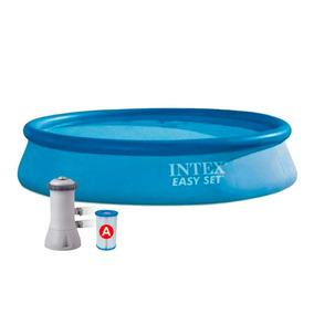 Pileta Inflable Intex Easy Set 7290lts 396 X 84 Cm + Bomba F