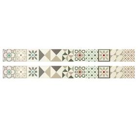 Guardas Ceramicas Friso Acuarela Elemento 4.5x50