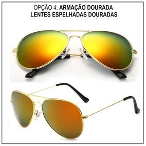 Fluffy Slime Dourada - Óculos De Sol no Mercado Livre Brasil 3eb6b1c3d6