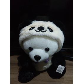 Urso De Pelúcia Panda Capuz Novo De Fábrica