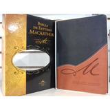 Biblia De Estudio Macarthur Rvr1960 Piel Dos Tonos Café-negr