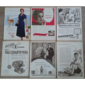 Lote Com 28 Páginas De Antigas Propagandas O Cruzeiro