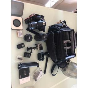 Camera Cannon Eos Rebel T3i + Gopro Hero 3 +, Case Completo