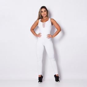 Macacão Fitness Tule White Mc063