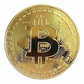 Moeda Colecionável Bitcoin Comemorativa Cor Dourado