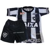 990c251f02 Uniforme Infantil Do Botafogo Infantil Camisa+shorts Futebol