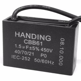 5 Unids Capacitor Partida 1,5uf X 450vac Fio Cbb61 40/70/21