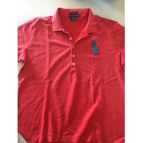 Camisa Polo Ralph Lauren Feminina Vermelha Cavalo Grande 8806cde2ec4ff