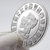 Moneda Calendario Maya Mexico Única Onza Plata De Colección