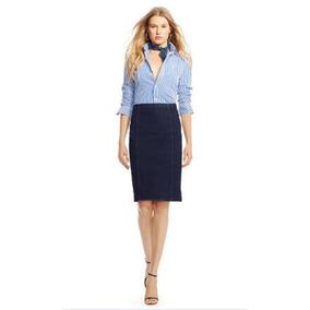 95dd0818759 Polo Ralph Lauren Falda Lapiz Mezclilla Dama Jean Midi Skirt