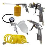 Kit Compressor Pistola, Limpeza, Calibrador C/ 5 Peças Tekna