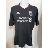 Camisa Liverpool Away 11-12 Gerrard 8 Patch Premier Importad