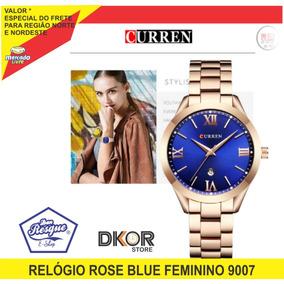 Relógio Curren 9007 Feminino Rosé Gold Sem Caixa