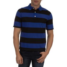 Camisa Polo Colombo Masculina Azul Listarada por Camisaria Colombo e857e5324acec