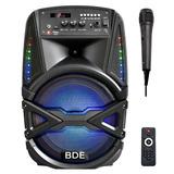 Parlante Con Luces, Bluetooth Y Microfono Potencia Karaoke