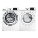 Combo De Lavadora Y Secadora Samsung 18 Kgr Color Blanco Wf1