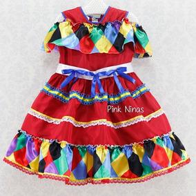 Vestido Festa Junina Infantil Menina Caipira Chic -cpc018901 abfc57f4c3e